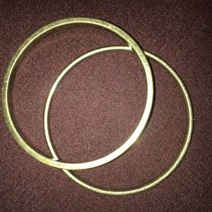 Jewelry - Pair of Brass Bangle Bracelets